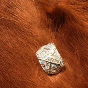 Vintage Jeweled Scarf Brooch